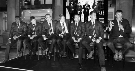 MARTIN CORRY speaking at the Chester Barrie event at The Royal Exchange, discussing England  alongside Leicester Tigers players.   Gareth Davies Photographer +44 (0) 7774 899 744 www.gdaviesphoto.com email: gareth@gdaviesphoto.com Twitter: SNAPMEDIAPRO