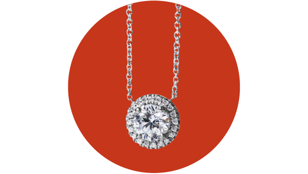 This ethically sourced necklace has a 0.50ct central diamond encircled with smaller stones for maximum impact. Platinum and Diamond Halo Pendant, £3,400, VASHI
