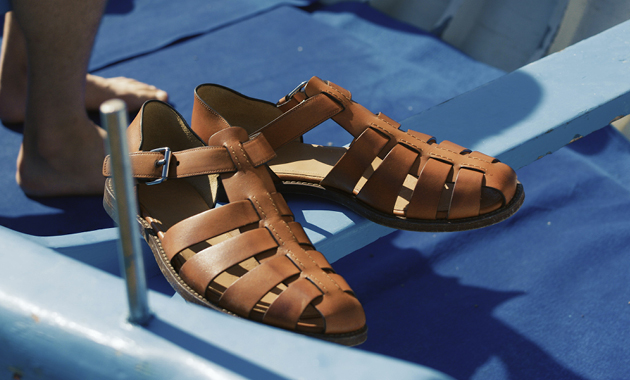 Church's Fisherman Bookbinder Fume Leather Sandal in Tabac