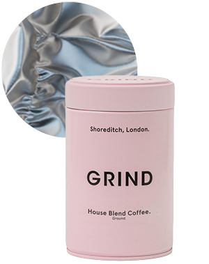 Whole Bean & Ground Coffee Tin (227g), from £9, Grind
