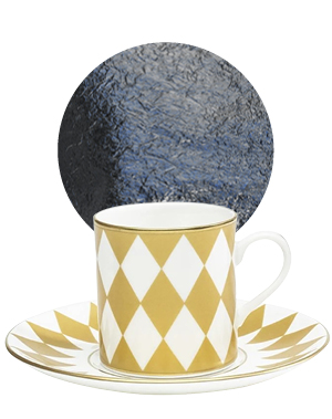Parterre Coffee Cup & Saucer Gold, £60, Halcyon Days