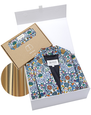 Liberty Fabric Cotton Dressing Gown & Boxer Gift Box, £250, Sirplus
